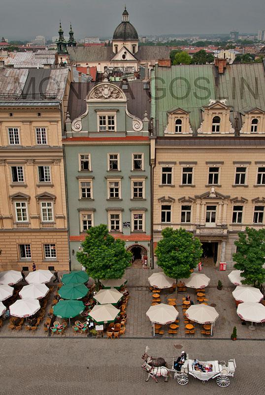 Main Market Square in Krakow, Poland by Monica Goslin